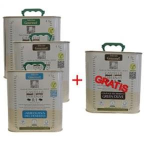 Promoción Caja con cuatro latas de 2,5 litros Surtidas